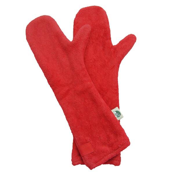 Drooghandschoen van het merk Ruff and Tumble kleur rood